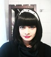 Ich mit Perücke, schwarze Haare, Haarfarbe