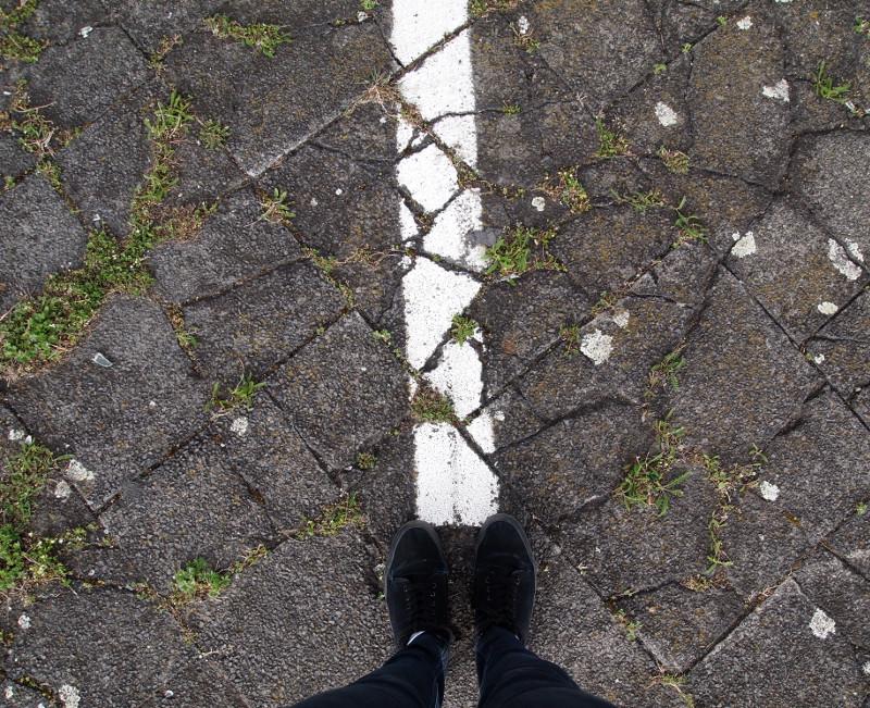 Tempelhofer Feld, Füße, Weg, Anfang