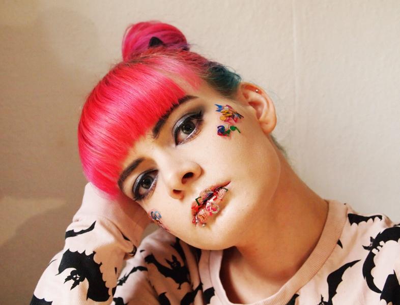 Make-up, Buchstaben, Highlighter